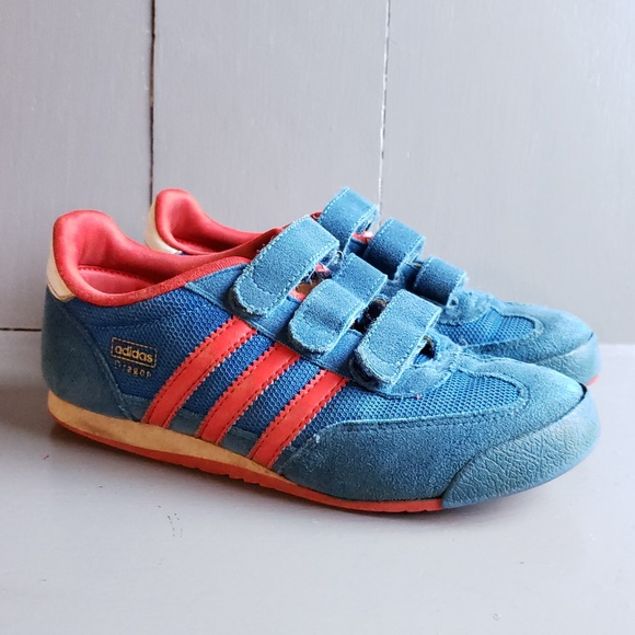 Adidas Dragon Kids Blue Sneakers Trainers SZ 2 1/2